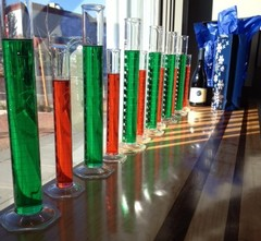 Cartograph holiday graduated cylinders