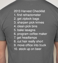 our harvest tshirts