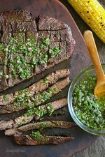 Flank Steak Skewers With Chimichurri