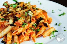 Pasta with Roasted Vegetables, Tomatoes, and Basil