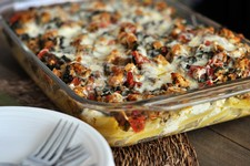 Baked Ziti with Spinach and Tomatoes