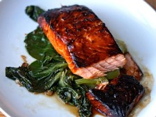 Miso-Maple Salmon with Baby Bok Choy